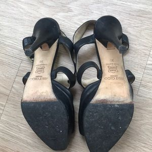 35109cbd92e0f Jimmy Choo Shoes - Jimmy Choo leather sandals with stones